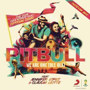 Télécharger le single We Are One (Ole Ola) [The Official 2014 Fifa World Cup Song] (Olodum Mix) de Pitbull feat. Jennifer Lopez & Claudia Leitte